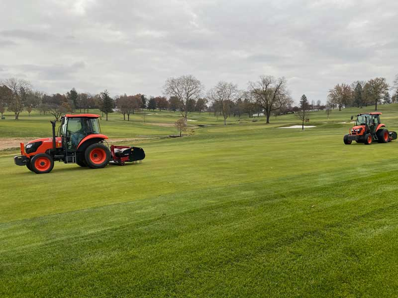 contact our golf course aerification services company