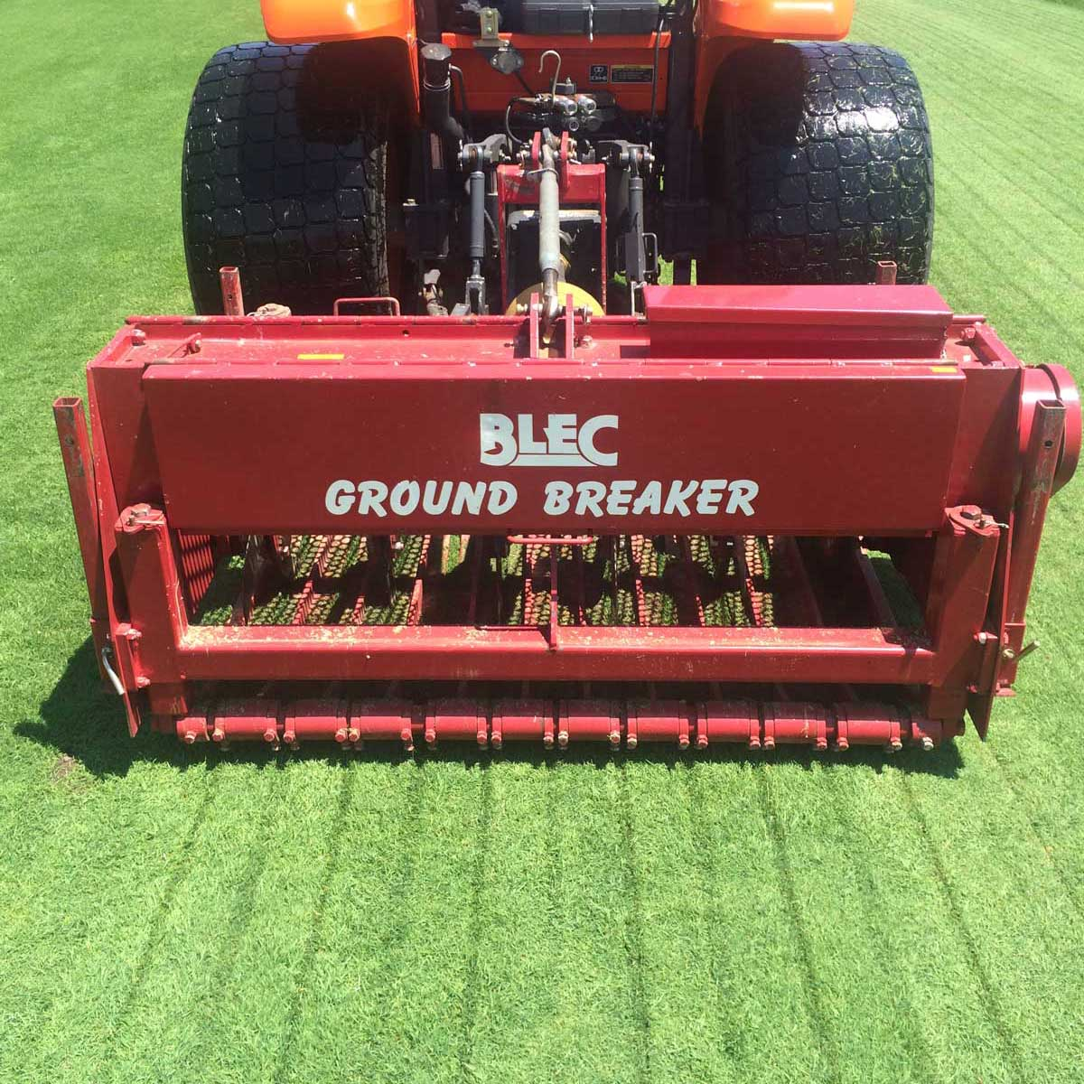 aerification services company that uses ground breaker equipment