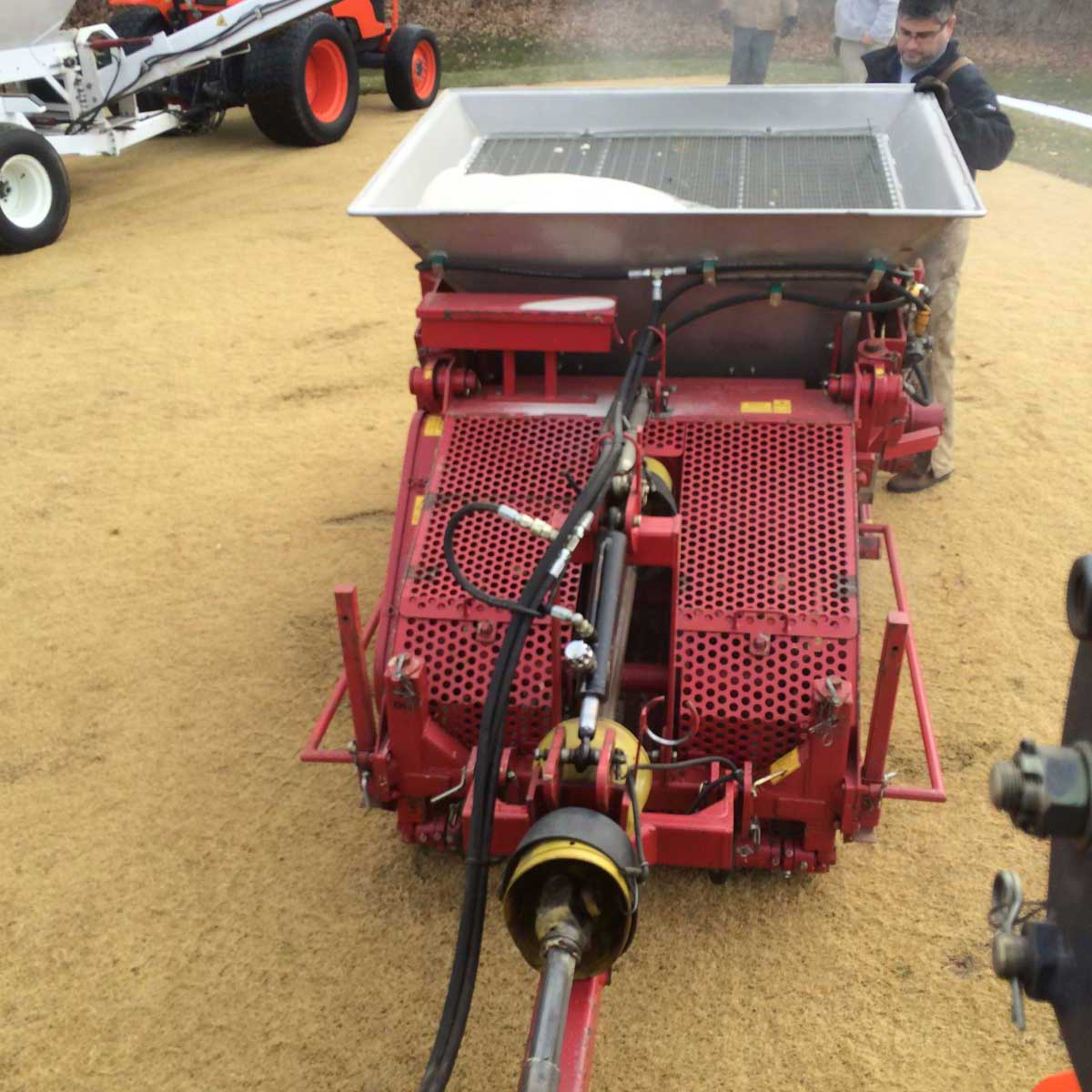 aerification services company that uses sand master equipment